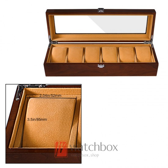 High quality wood multi-slots watch case storage display box