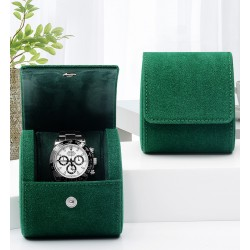 High quality leather single watch case storage bag travel watch box