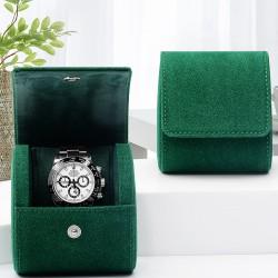 High quality leather single watch case storage bag travel watch box