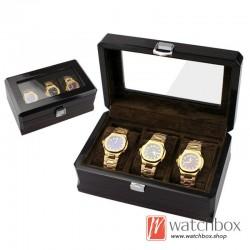 3 slots pieces watch wooden paint case storage organier display gift box