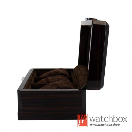 3 slots pieces watch wooden paint case storage organier display gift box
