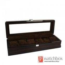 6 slots pieces watch wooden paint case storage display organizer box