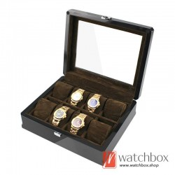 8 slots pieces watch wooden case storage organizer display box
