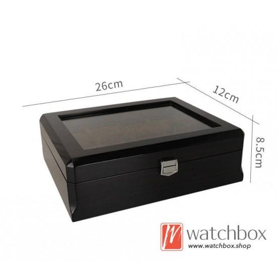 8 slots pieces watch wooden case storage organizer display box