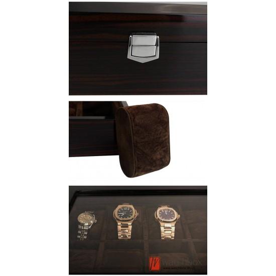 18 slots pieces watch wooden paint case storage display organizer box