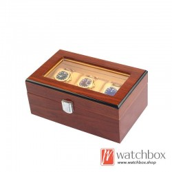 3 pieces watch slots case wooden storage organizer display gift box