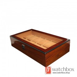 12 pieces slots watch case wooden storage organizer display gift box