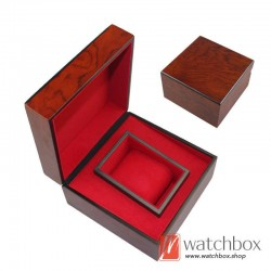 high quality single wooden pillow watch case storage gift box
