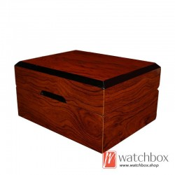 high quality single wooden PU leather pillow watch case storage gift box