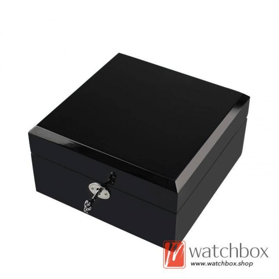 high quality single watch luxury wooden PU leather pillow case storage gift lock box