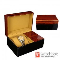 high quality single watch MDF wooden PU leather pillow case storage gift box