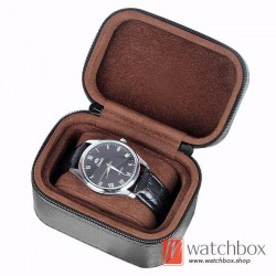 high quality single watch protective case storage travel gift zipper box