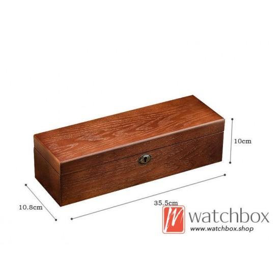 vintage 6 slots Ash wood wacth case storage organizer gif display box