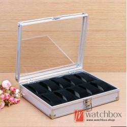 10 slots Aluminum alloy watch case storage organizer display box