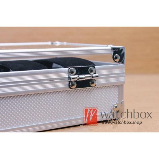 10 slots Aluminum alloy watch case storage organizer display box