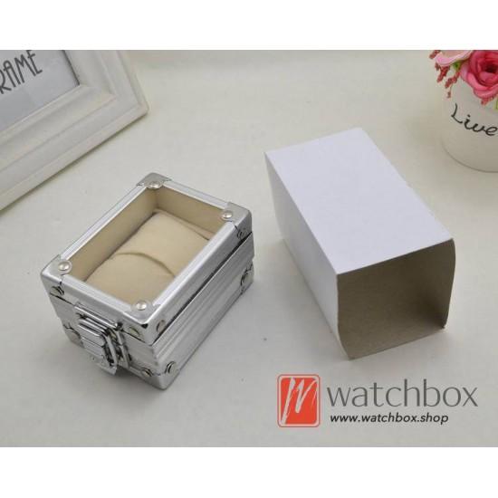 single watch case storage display aluminum alloy box