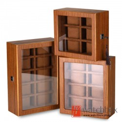 new 5/6/8/10/12/18 slots grids wood watch case storage organizer display box