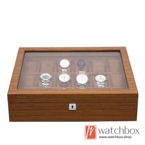 new 5/6/8/10/12/18 slots grids wood watch case storage organizer display box