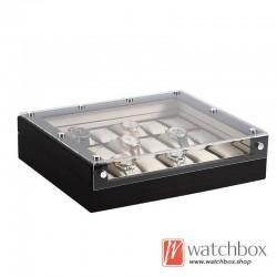6/12/18 slots high quality wood High-gloss spray paint watch storage case organizer display box