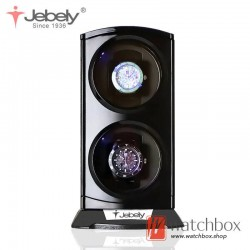 Jebely Authorized Premium Automatic Rotate LED Light Watch Winder Watch Storage Gift Boxes 2+0