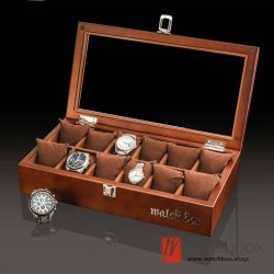 12 slots pieces vintage wood big pillow watch jewelry case storage organizer display box