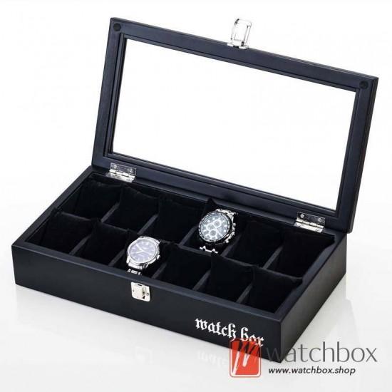 12 slots pieces vintage wood big pillow watch jewelry case storage organizer display box