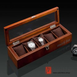 5 pieces slots vintage wood watch case jewelry big pillow storage organizer display box