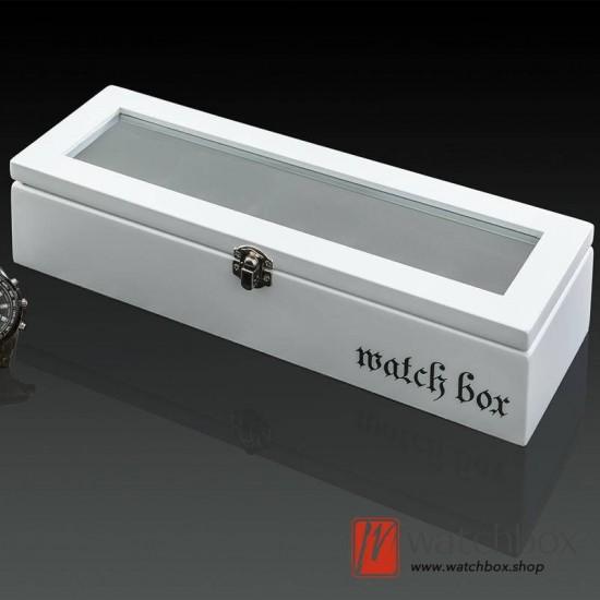5 pieces slots vintage wood watch case jewelry big pillow storage organizer display box