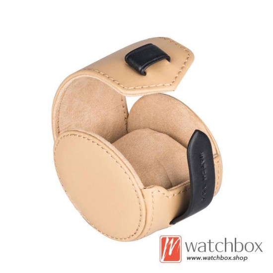 head layer cow leather single watch case storage travel box