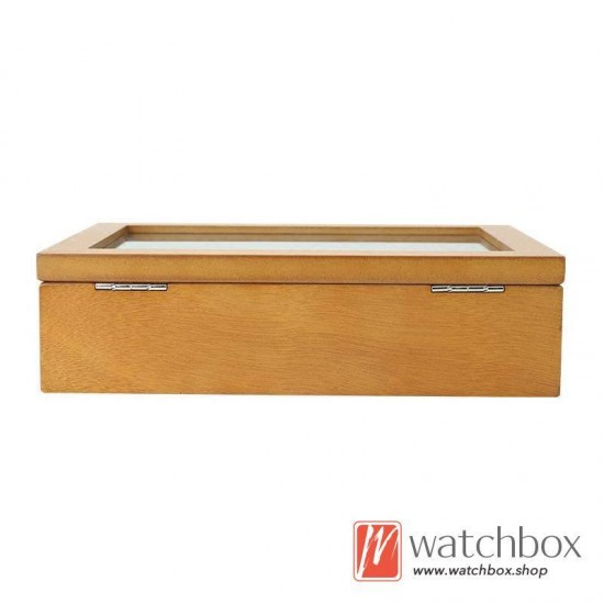 8 slots pieces big pillow wood watch case jewelry storage organizer display box