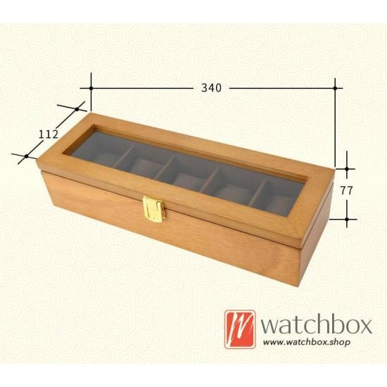 5 slots pieces big pillow wood watch case jewelry storage organizer display box