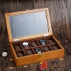 vintage 10 slots pieces wood watch case big pilow jewelry storage organizer display box