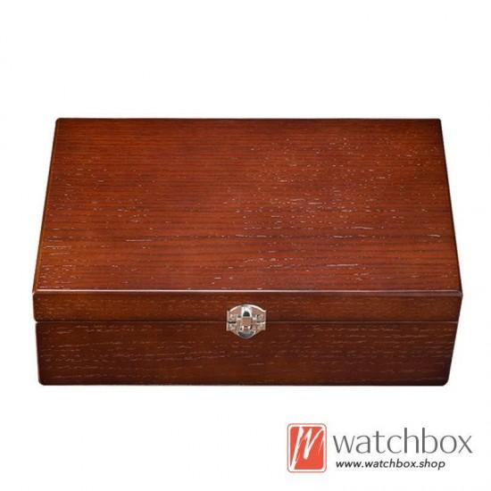 10 slots pieces vintage wood watch jewelry case big pilow storage organizer display box