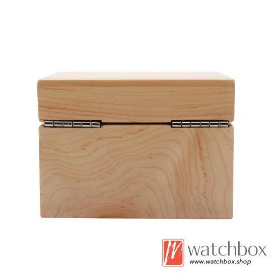 2 Slots Australian Red Cherry Pure Wood Watch Case Pillow Storage Organizer Box