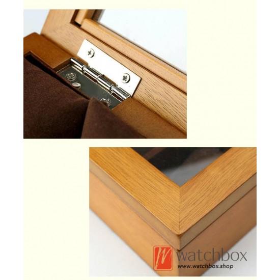 12 Slots Pieces Vintage Wood Watch Pilow Case Jewelry Display Storage Organizer Box
