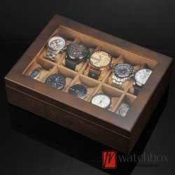 10 slots pieces big pillow vintage wood watch case jewelry storage organizer display box