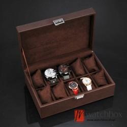 10 slots pieces PU leather watch jewelry big pillow case storage organizer box