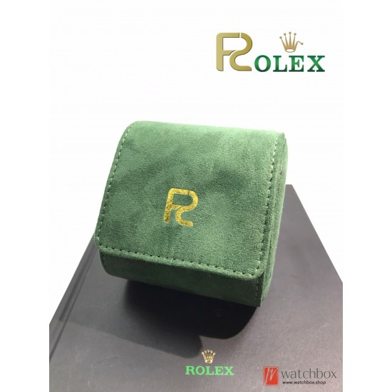 Top quality premium  green flannel portable watch case travel box for luxury brand watch