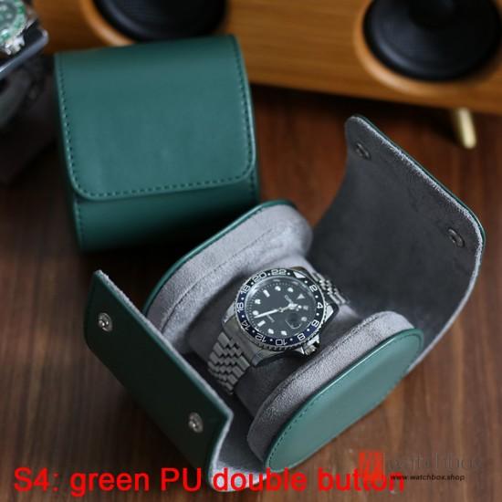 Portable Leather Single Mechanical Anti-fall Watch Case Storage Travel Box