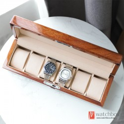 top quality 6/12 position rosewood solid wood watch storage box display box mechanical watch organizer box
