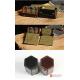 Hexagonal 2 grids gunine leather watch jewelry case storage organizer display travel box