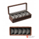 5 grids top grade solid wood mechanical time theme watch jewelry case storage display box home decoration