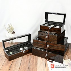 top grade black sandalwood pattern watch jewelery storage display box home decoration