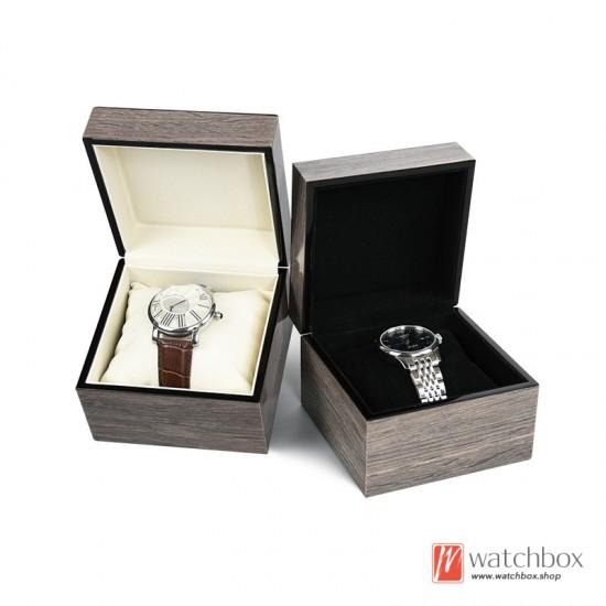 Single big pillow wood paint watch case storage travel box