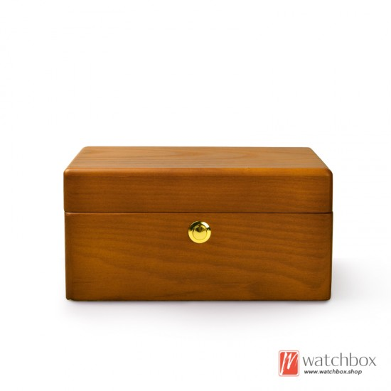 high quality 2 slots solid wood watch jewelry case storage gift box