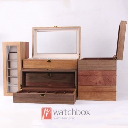 6/10/12 slots high-grade crude wood watch case storage dispaly organizer box