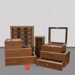 High quality multi-slots wood watch case storage display box