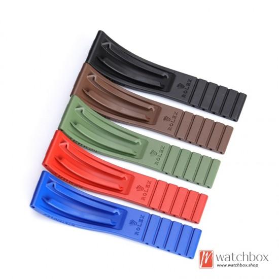 classic fluorous rubber watch strap watchband 20mm