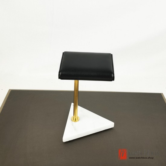 The Luxurious Triangle Marble Base PU leather Watch Stand Holder Counter Display Stand