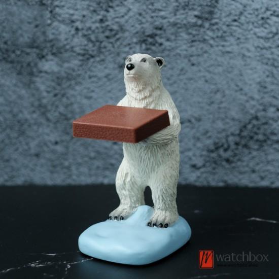 Original Creative Polar bear shop watch display stand gift holder